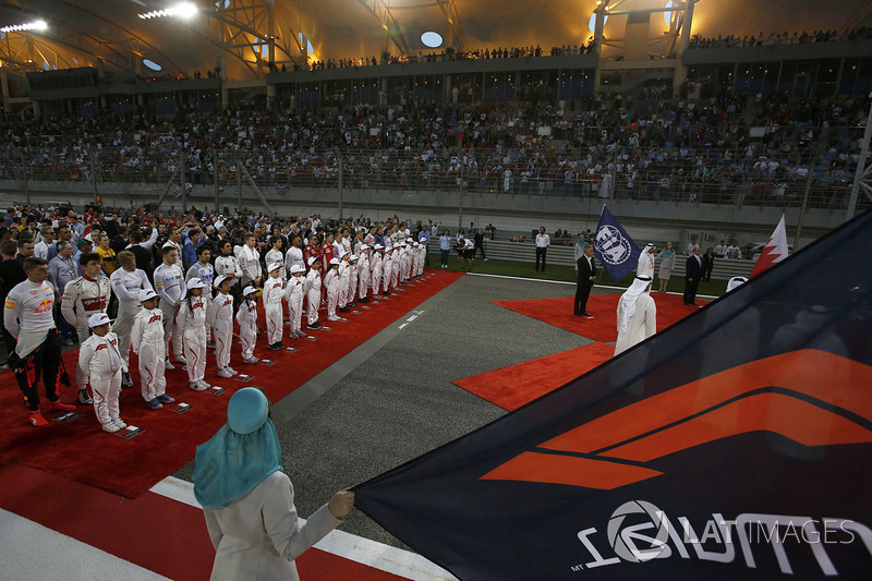 National Anthem is observed on the grid