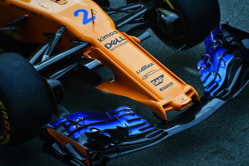 McLaren MCL33 burun kısmı ve ön kanat detayı