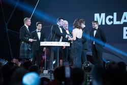 Eric Boullier, Yarış Direktörü, McLaren, ve McLaren Autosport BRC Ödülü sahibi Dan Ticktum