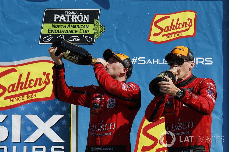 #99 JDC/Miller Motorsports ORECA 07, P: Stephen Simpson, Mikhail Goikhberg, Chris Miller, podio, champagne
