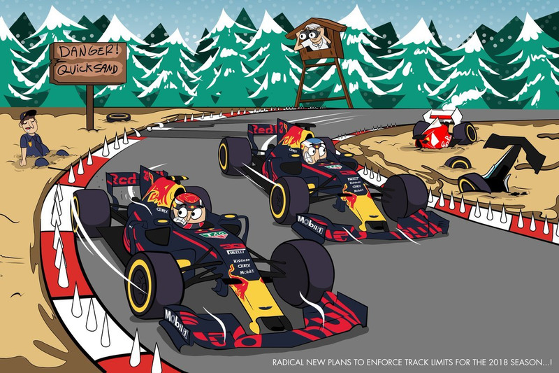 Red Bull Racing holiday card featuring Daniel Ricciardo and Max Verstappen