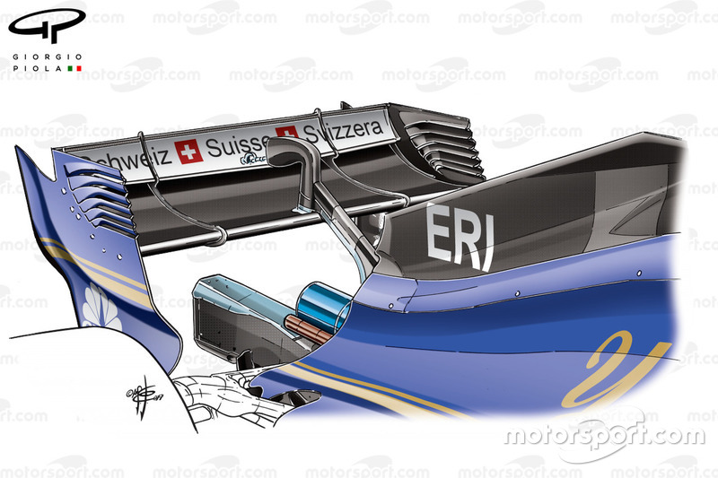 Nouveau capot moteur de la Sauber C36