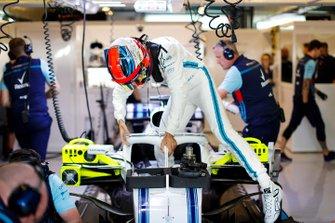 Robert Kubica, Williams Martini Racing, monte dans sa monoplace