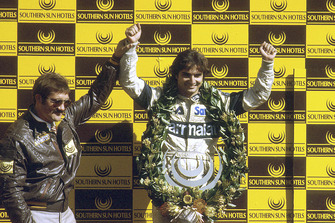 Podium: third place Nelson Piquet, Brabham BMW