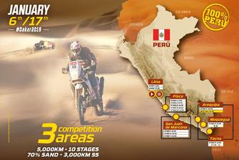 Dakar 2019 mapa