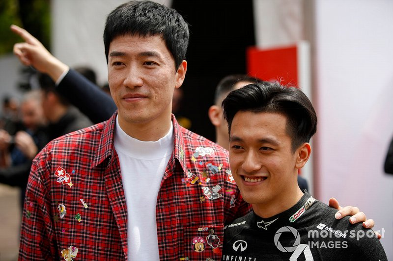 Xiang Liu, Olympic Gold Medalist and Guanyu Zhou, Renault F1 Team