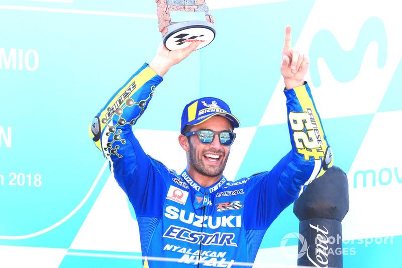 Podium: third place Andrea Iannone, Team Suzuki MotoGP
