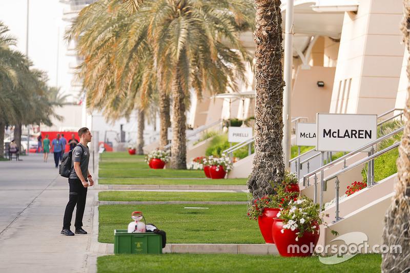 Стоффель Вандорн в паддоке, McLaren