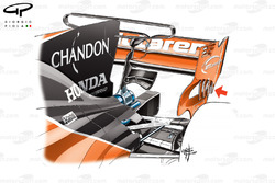McLaren MCL32 T wing and rear endplate details
