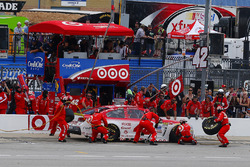 Kyle Larson, Chip Ganassi Racing Chevrolet pit stop
