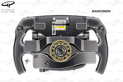 Ferrari SF70H, rear view of Kimi Räikkönen's steering wheel