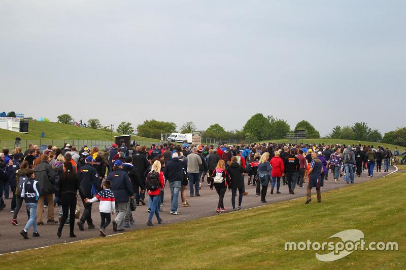 Track Walk for Billy Monger