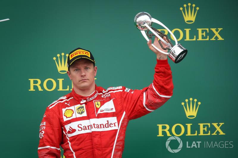 Kimi Raikkonen, Ferrari celebra en el podio