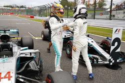 Володар поулу Льюіс Хемілтон, Mercedes AMG F1, Валттері Боттас, Mercedes AMG F1