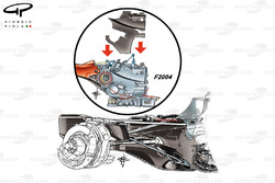 Ferrari F2004 and Mercedes W04 gearboxes