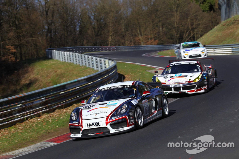 #169 Wochenspiegel Team Monschau, Porsche Cayman GT4 CS MR: Rene Offermann, Dirk Riebensahm