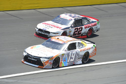 Matt Tifft, Joe Gibbs Racing Toyota, Brad Keselowski, Team Penske Ford