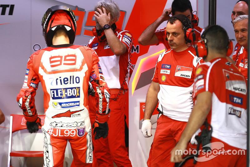 Jorge Lorenzo, Ducati Team, mit Luigi Dall'Igna