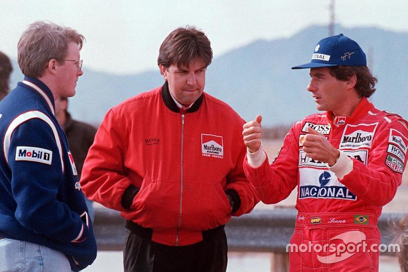 Ayrton Senna bersama Paul Tracy dan Nigel Beresford, Team Penske