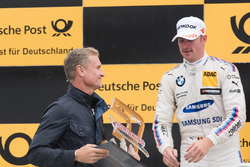 Podium: David Coulthard and Maxime Martin, BMW Team RBM, BMW M4 DTM