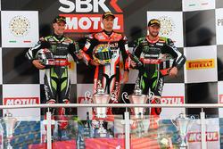 Podium: 1. Chaz Davies, Ducati Team, 2. Jonathan Rea, Kawasaki Racing, 3. Tom Sykes, Kawasaki Racing