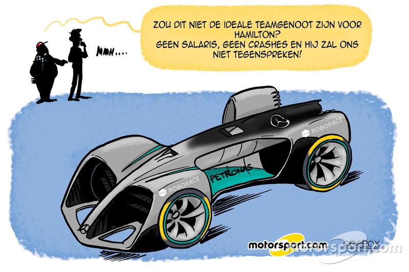 Cartoon van Cirebox - Mercedes zoekt vervanger van Nico Rosberg