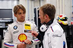 Augusto Farfus and Stefan Reinhold, Team Principal BMW Team RMG