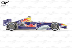 Red Bull RB1 2005 side view