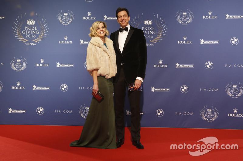 Тото Вольф с женой Сьюзи