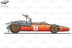 Ferrari 312/68 1968 side view