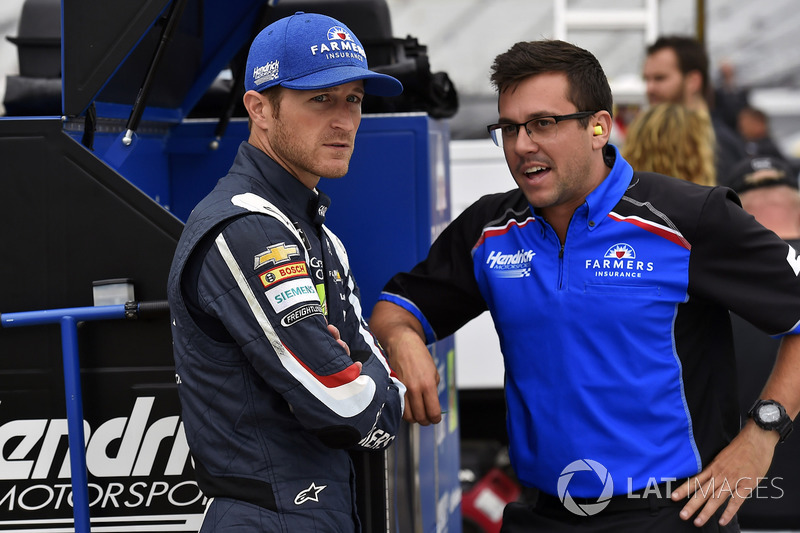 Kasey Kahne, Hendrick Motorsports Chevrolet y Taylor Moyer