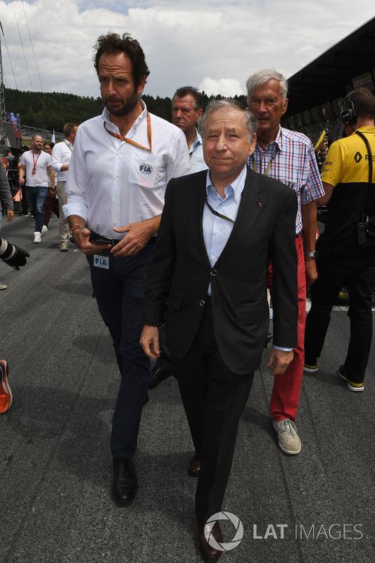 Matteo Bonciani, FIA Media Delegate, Jean Todt, FIA President