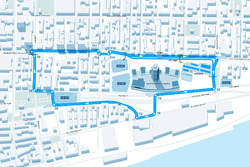 Montreal ePrix diseño de circuito