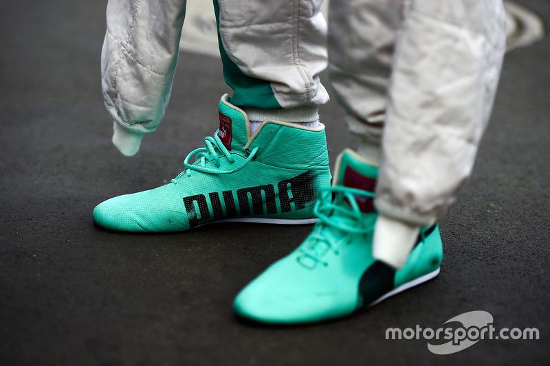 Die Rennschuhe von Nico Rosberg, Mercedes AMG F1