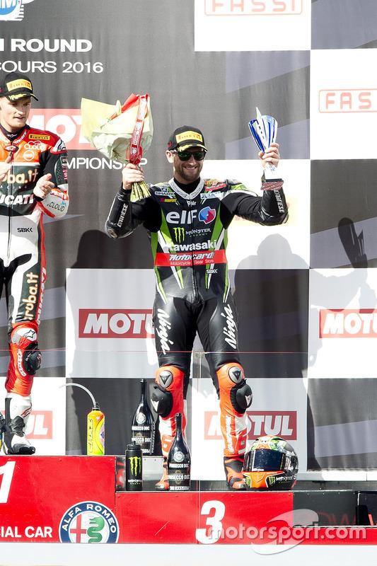 Podium : troisième place pour Tom Sykes, Kawasaki Racing