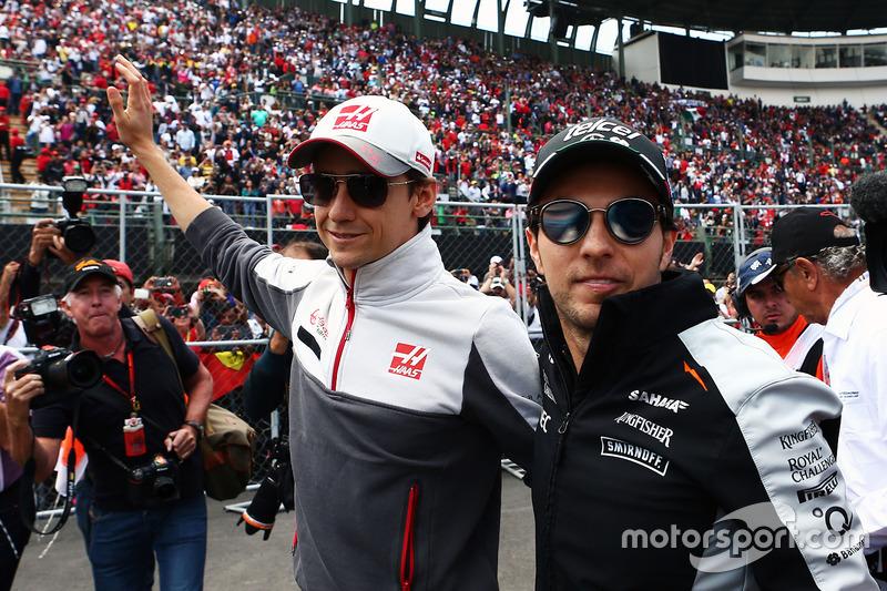 Esteban Gutierrez, Haas F1 Team con Sergio Perez, Sahara Force India F1