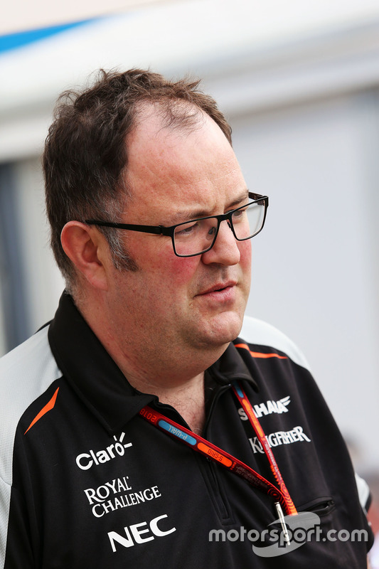 Tom McCullough, Sahara Force India F1 Team Chief Engineer