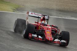 Sebastian Vettel, Ferrari tests the 2017 spec Pirelli