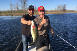 Furniture Row Racing driver Martin Truex, Jr. and Bass Pro Shops founder/CEO Johnny Morris on a recent fishing trip