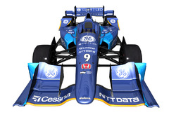 The car of Scott Dixon, Chip Ganassi Racing Honda