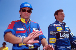 Peter Windsor with Riccardo Patrese, Williams