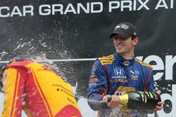Podio: ganador de la carrera Alexander Rossi, Herta - Andretti Autosport Honda