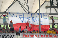 Robert Kubica, Renault Sport F1 Team RS17 fans and banner