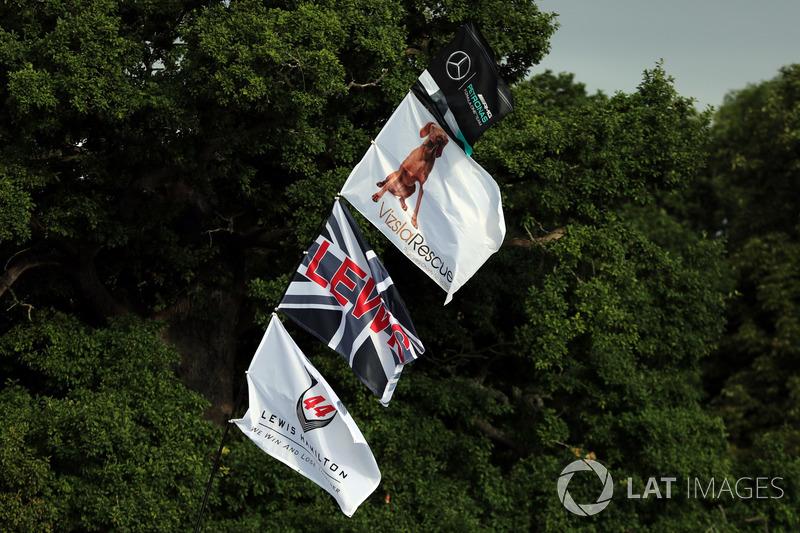 Прапор на підтримку Льюіса Хемілтона, Mercedes AMG F1