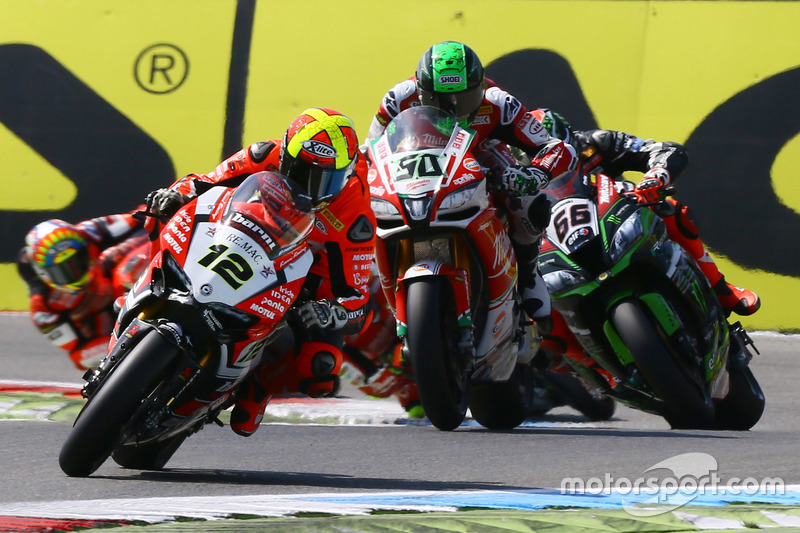 Xavi Fores, Barni Racing Team, Eugene Laverty, Milwaukee Aprilia World Superbike Team