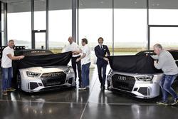 Simon Caddy, James Kaye, Cadspeed Racing; Chris Reinke, Audi Sport customer racing; Stephan Winkelmann, Audi Sport GmbH; Dalius Steponavicius, Speed Factory Racing