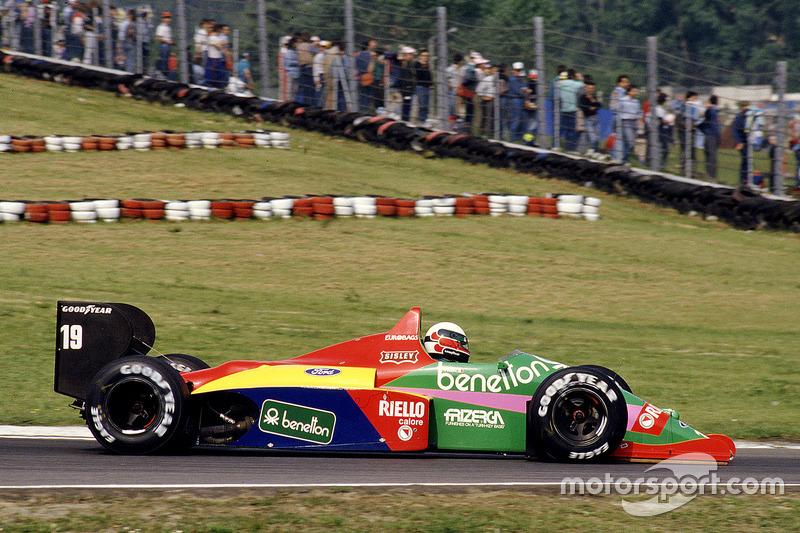 #19: Teo Fabi, Benetton B187, Ford