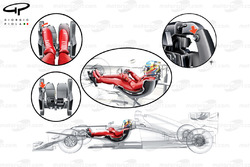 Fernando Alonso's driving position in the F2012 and how a third pedal is used to activate/deactivate DRS