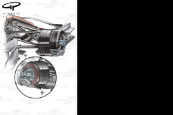McLaren MP4-23 front brake drum differences