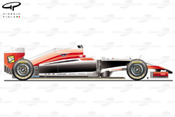 Marussia MR03 side view